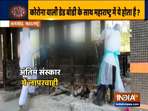 Maharashtra: Cremation video of COVID-19 patient's body exposes negligence