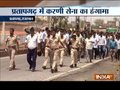Karni Sena stages protest against 'Meena Samaj' in Rajasthan's Pratapgarh