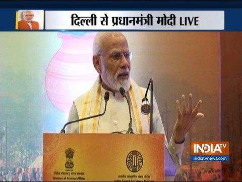 नई दिल्ली में वैश्विक व्यापार शिखर सम्मेलन को प्रधानमंत्री नरेंद्र मोदी ने सम्बोधित किया