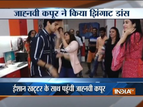 Janhvi Kapoor and Ishaan Khatter groove to Zingaat during Dhadak promotions
