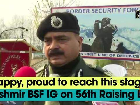 Happy, proud to reach this stage: Kashmir BSF IG on 56th Raising Day