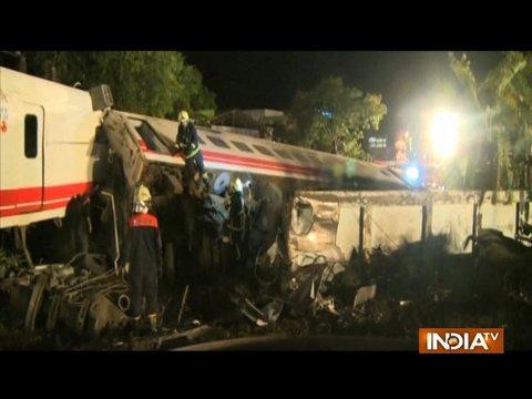 ताईवान में भीषण ट्रेन हादसा, 18 लोगों की मौत