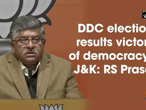 DDC election results victory of democracy in JandK: RS Prasad