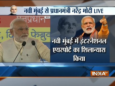 PM Modi lays foundation stone of Navi Mumbai International Airport