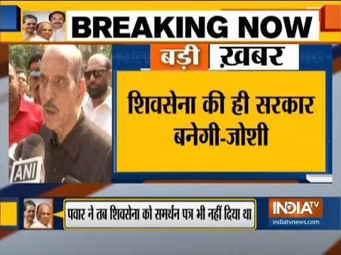 महाराष्ट्र में शिवसेना की ही सरकार बनेगी: मनोहर जोशी