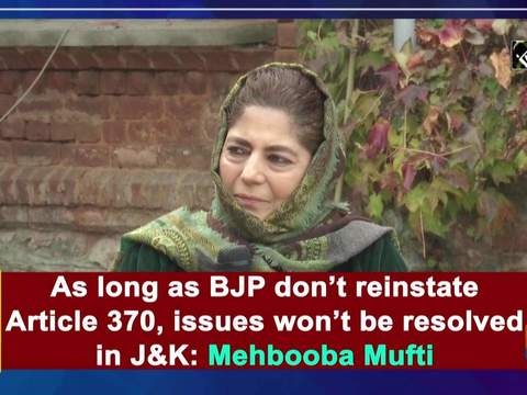 As long as BJP don't reinstate Article 370, issues won't be resolved in J&K: Mehbooba Mufti