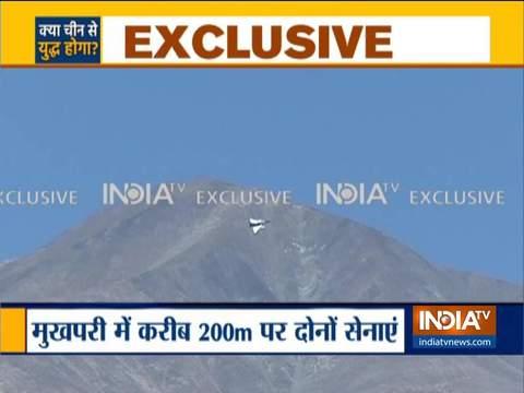 इंडिया टीवी एक्सक्लूसिव:  200  मीटर से भी कम दूरी पर हैं भारत चीन की सेनाएं