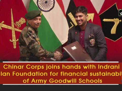 Chinar Corps joins hands with Indrani Balan Foundation for financial sustainability of Army Goodwill Schools