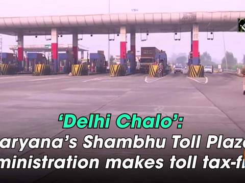 'Delhi Chalo': Haryana's Shambhu Toll Plaza administration makes toll tax-free