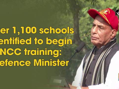 Over 1,100 schools identified to begin NCC training: Defence Minister