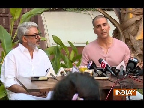 Akshay Kumar attends joint press conference with Bhansali