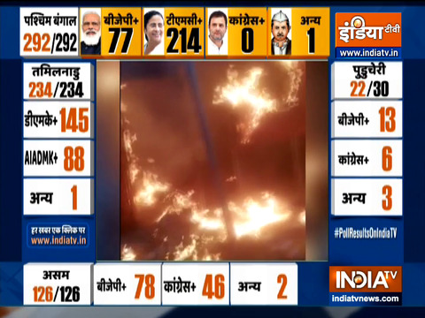 Bengal Poll Results: BJP office gutted in fire in West Bengal's Arambagh