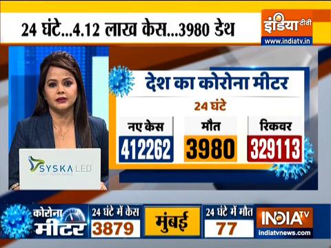 VIDEO: भारत में 4,12,262 नए Covid-19  मामले आए सामने