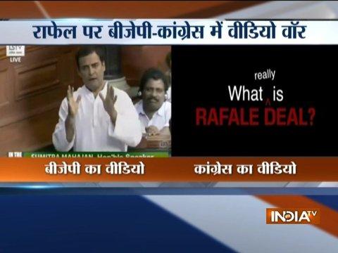 राफेल डील पर हुई कांग्रेस-बीजेपी में वीडियो वॉर
