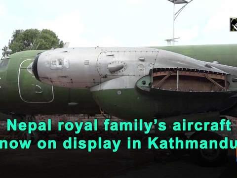 Nepal royal family's aircraft now on display in Kathmandu