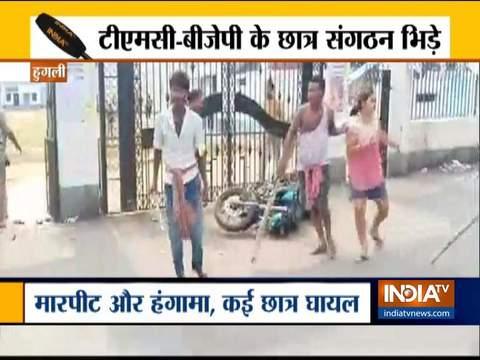 पश्चिम बंगाल में दो गुटों के बीच जमकर हिंसा