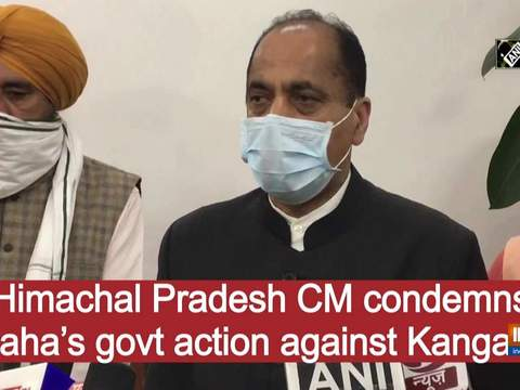 Himachal Pradesh CM condemns Maha's govt action against Kangana