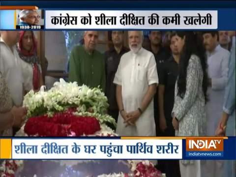 पीएम मोदी ने दिल्ली की पूर्व सीएम शीला दीक्षित को दी श्रद्धांजलि