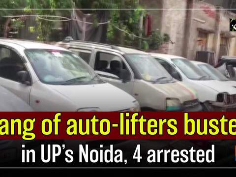 Gang of auto-lifters busted in UP's Noida, 4 arrested