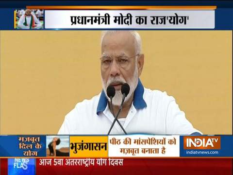 PM Narendra Modi wishes International Yoga Day 2019 from Ranchi