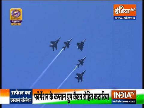 Republic Day 2021: राजपथ के आसमान में लड़ाकू विमान