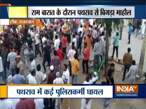 Clash erupts between two groups during Dussehra celebrations in Tonk