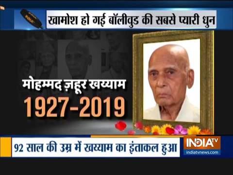 पीएम मोदी, जावेद अख्तर, लता मंगेशकर ने प्रसिद्ध संगीतकार खय्याम की मृत्यु पर शोक व्यक्त किया