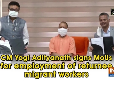 CM Yogi Adityanath signs MoUs for employment of returnee migrant workers