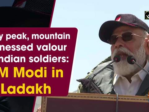Every peak, mountain witnessed valour of Indian soldiers: PM Modi in Ladakh