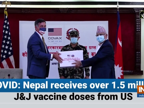 COVID: Nepal receives over 1.5 million JandJ vaccine doses from US