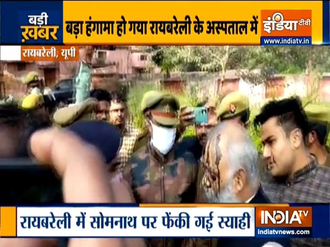 Ink attack on AAP MLA Somnath Bharti in UP