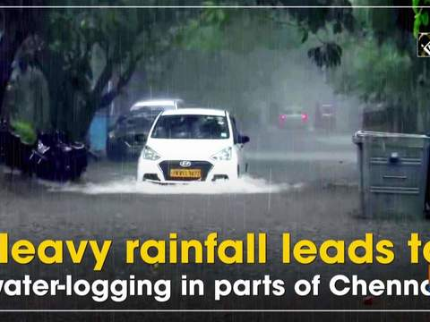 Heavy rainfall leads to water-logging in parts of Chennai