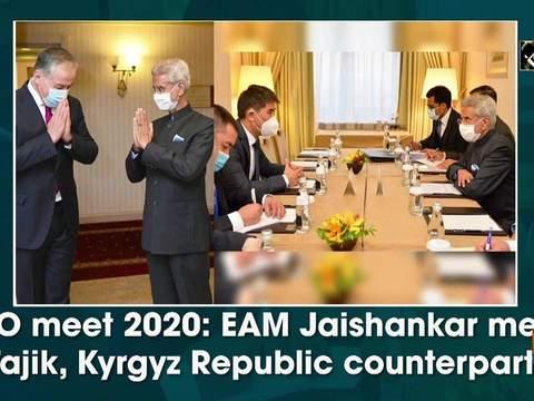 SCO meet 2020: EAM Jaishankar meets Tajik, Kyrgyz Republic counterparts