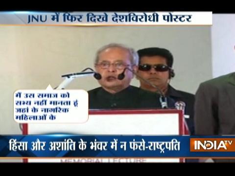 President Pranab Mukherjee: No room in India for intolerant Indians
