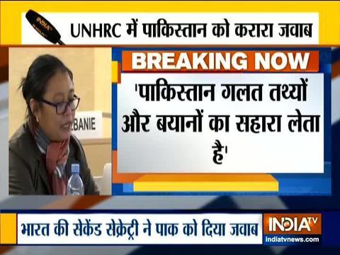 UNHRC में भारत ने पाकिस्तान को दिया मुहतोड़ जवाब
