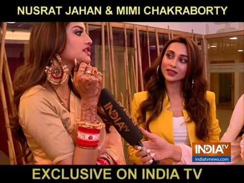नुसरत जहां और मिमी चक्रवर्ती ने की इंडिया टीवी से खास बातचीत