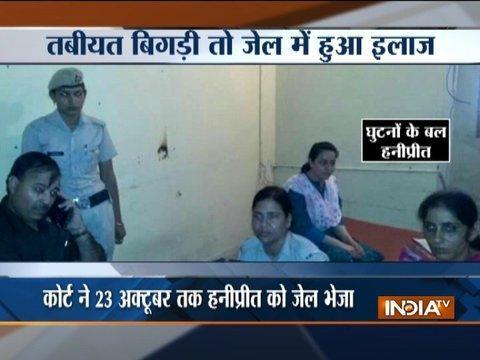 Ram Rahim's adopted daughter, Honeypreet spends restless night in jail