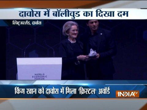 Honoured to receive World Economic Forum's 24th Crystal Award: Shah Rukh Khan