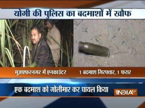 Police encounter in Muzaffarnagar, one miscreant arrested