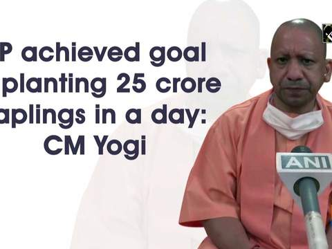 UP achieved goal of planting 25 crore saplings in a day: CM Yogi