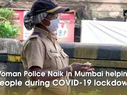 Woman Police Naik in Mumbai helping people during COVID-19 lockdown
