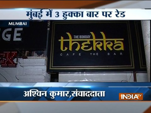 Police raid illegal hookah parlours in Mumbai