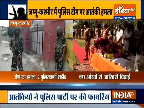 Nowgam: Tributes paid to 2 police personnels martyred in terrorist attack