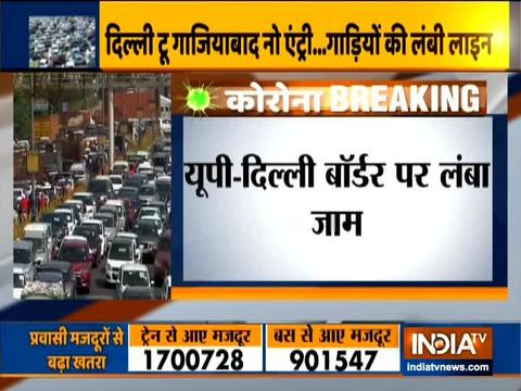 Delhi-Ghaziabad border witnesses heavy traffic