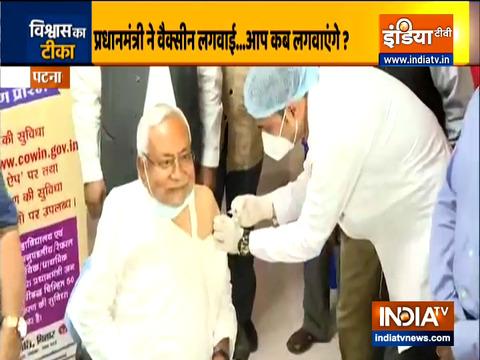 बिहार: सीएम नीतीश कुमार ने लगवाया का कोरोना टीका