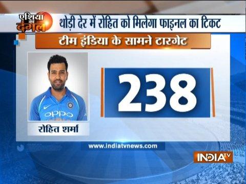 पाकिस्तान ने भारत के सामने रखा 238 रनों का लक्ष्य