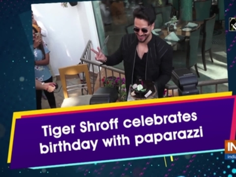 Tiger Shroff celebrates birthday with paparazzi