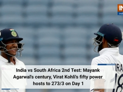 India vs South Africa 2nd Test: Mayank Agarwal's century, Virat Kohli's fifty power hosts to 273/3 on Day 1