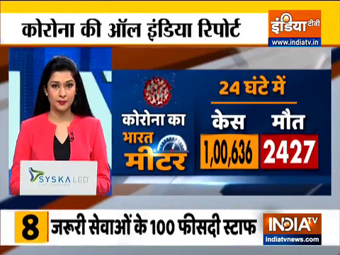 COVID-19: India records 1,00,636 new COVID cases in past 24 hours