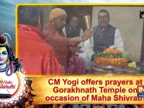 CM Yogi offers prayers at Gorakhnath Temple on occasion of Maha Shivratri